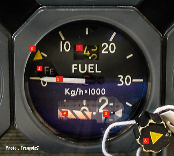 "Indicateur Concorde ""Fuel Flow"""