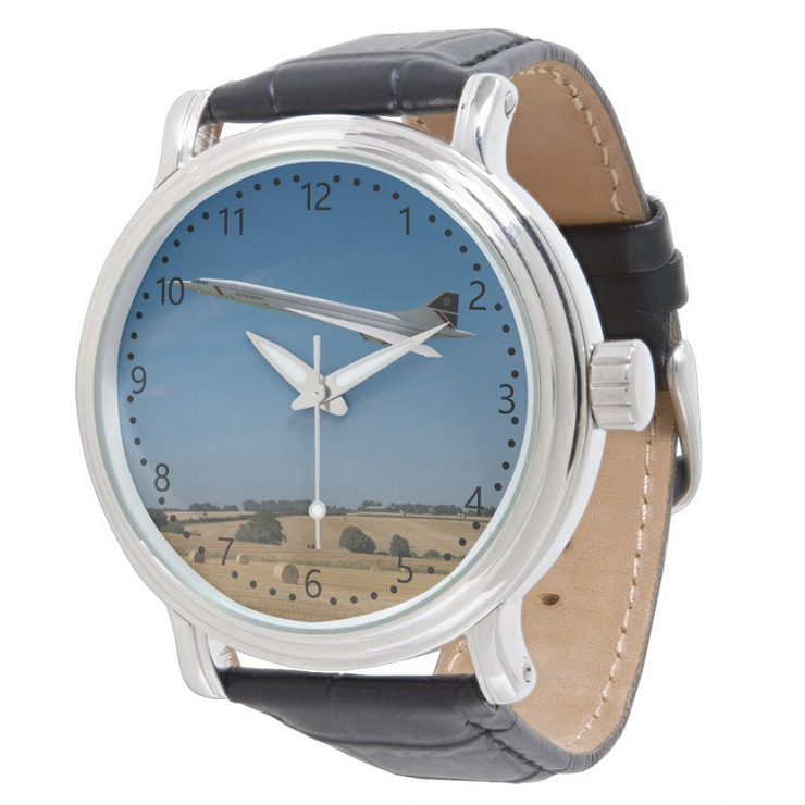 Concorde at Harvest Time - numbers Dial Watch