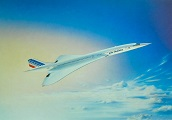 Carte postale Concorde publicitaire Air France