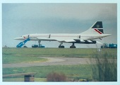 Carte postale Concorde G-BOAA N°12 @Post Card