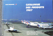 "Air France ""Catalogue des produits 1987"""